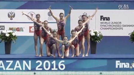 2016年花样游泳世界青年锦标赛集体决赛集锦