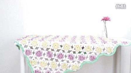 【娟娟编织】220集水仙花毯编织视频教程零基础编织毛衣编织视频作品秀