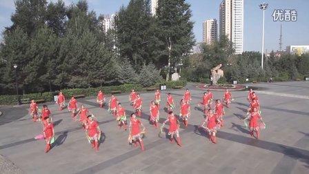 """呼伦贝尔市海拉尔区成吉思汗广场""""草原情""""舞蹈队"""