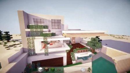 我的世界Minecraft【大橙子】豪宅4號-北歐風簡約別墅