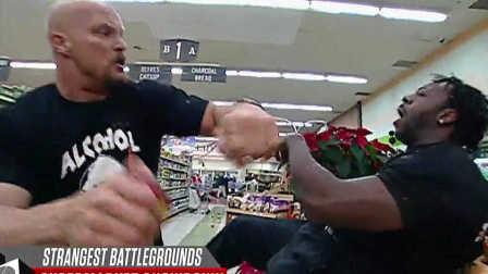 2016年7月17日期 WWE历史十大最奇葩决斗战场TOP 10 海边 马房 酒吧 超市...