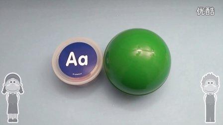 """迪士尼 奇趣蛋 """"A""""开头的单词 认知字母和颜色 亲子游戏 健达奇趣蛋 惊奇蛋 惊喜蛋 早教益智 diy 玩具总动员"""