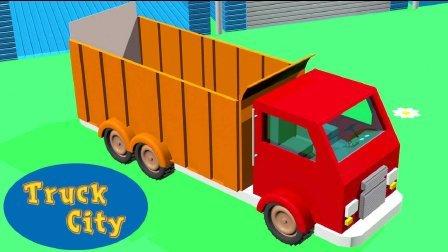 卡车之城 第3集 翻斗车-建造泳池和滑梯