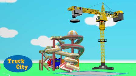 卡车之城 第4集 吊车-建造泳池和滑梯