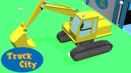 卡车之城 第1集 挖掘机-建造游泳池和滑梯