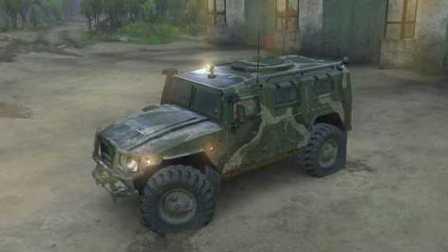 【越野党必看】旋转轮胎MODS丨装甲车GAZ-2975 TIGER 极限越野作