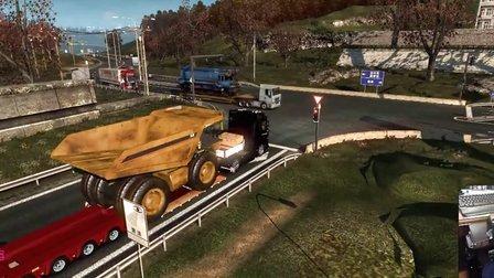 欧洲卡车模拟2_G27_H档 (1000马力大奔 运输75吨自卸卡车)