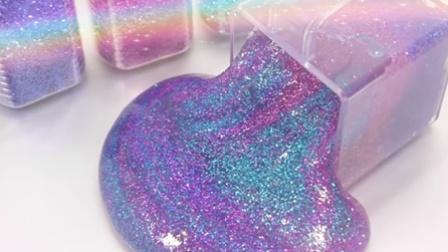 小不点的玩具 2016 韩国水晶闪亮DIY水果彩色彩虹冰冻布丁