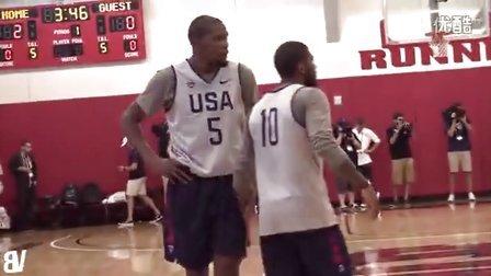 美国男篮对抗赛:国家队VS选拔队