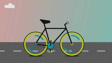 有趣的自行车动效01