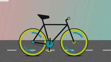 有趣的自行车动效02