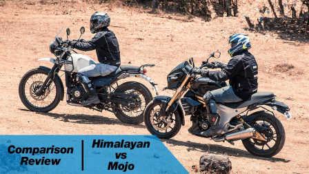 印度摩托车对比评测:Royal Enfield Himalayan vs Mahindra Mojo