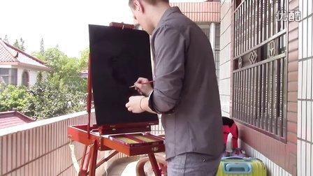 外籍画师的隐形画创作
