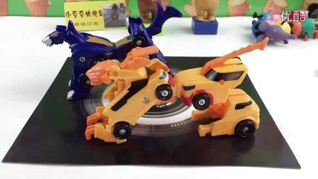 猎车兽魂玩具虎魄 玩具拆箱 列车变形合体机器金刚