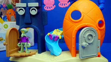 海绵宝宝 章鱼城堡与章鱼哥 迪士尼 玩具