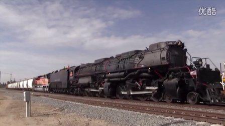 【美国铁路风情】肌肉火车 全球最大蒸汽机车 美国大男孩蒸汽机车(4014号) 波莫纳-科尔顿