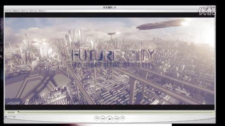 AE,C4D影视特效包装详解--科幻城市超大场景搭建