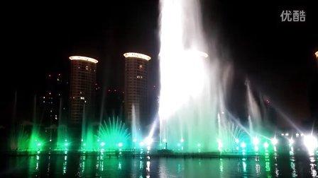呼和浩特如意河音乐喷泉,老美了。