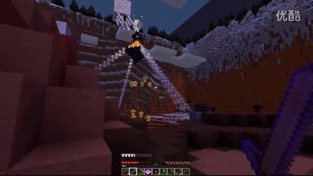 【灰哥】我的世界《永夜神秘岛》3:火焰坑里被烈焰人逼进山盘丝洞