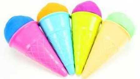 学习的颜色和学习英语 培乐多彩虹冰淇淋 Learn Colors Play Doh Rainbow Ice Cream
