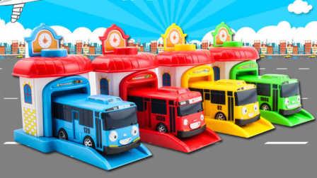 韩国玩具tayo巴士车4款集齐 校车公交车 朵拉小马宝莉米奇