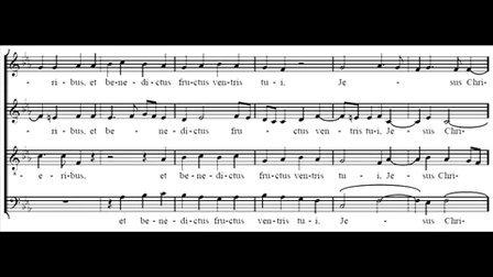 【Score】Jacob Handl: Ave Maria § misattributed to Tomás Luis de Victoria