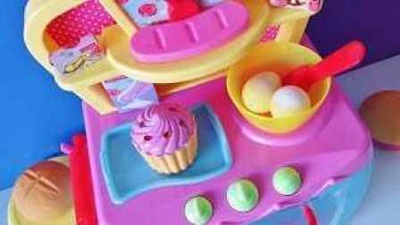 玩具烤箱 烤面包机 玩具厨房 玩具蛋糕 玩具面包 玩具松饼 Electronic magic toy oven baking