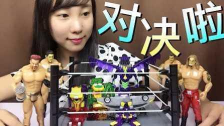 【魔力玩具学校】看肌肉男间的魔幻车神精彩对决 惊天神鹫 撼地神像 天渊巨神 魔蛙车神 自动变形玩具车机器人爆裂飞车玩具