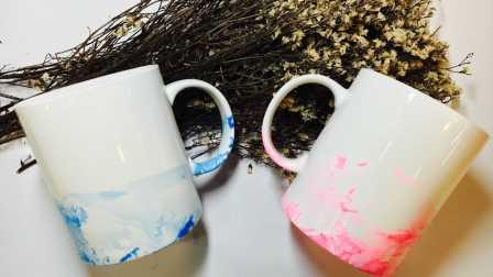 MYGIFT-手工制作创意马克杯-小清新风格情侣马克杯,爱你一辈子(杯子)