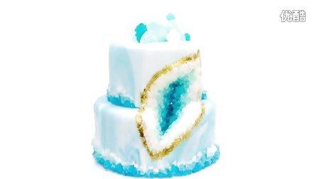 如何制作石英结晶翻糖婚礼蛋糕?{Sweet-Lab}