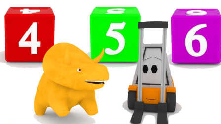恐龙戴诺 第12集 用方块搭起一座高塔并学习数字