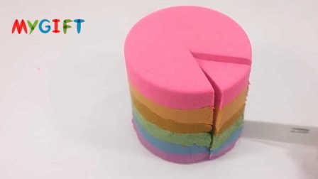 MYGIFT-手工制作彩虹蛋糕,为什么只能看却不能吃?