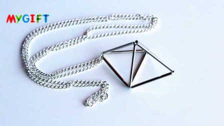 MYGIFT-手工制作-充满创意的几何棱镜项链,简单就是美