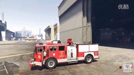 GTA5汽车警车坦克消防车碰撞测试22