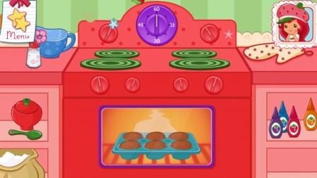 趣盒子游戏 2016 草莓小女孩 蛋糕店游戏 制作 纸杯蛋糕 304 制作 纸杯蛋糕