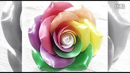糖艺彩色玫瑰制作教程 含文字解说