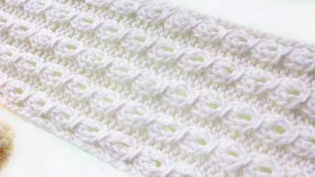 铜钱花 围巾的织法 围巾编织 男女围巾手工教程