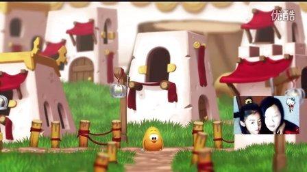 小鸡快跑第7期小鸡家园遇地震小鸡掉落地狱又遇魔鬼益智游戏