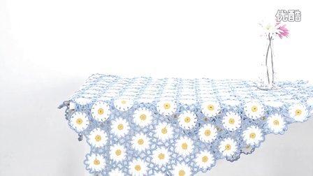 【娟娟编织】238集秘密花园钩花毯子编织视频教程零基础编织视频钩织方法视频教程