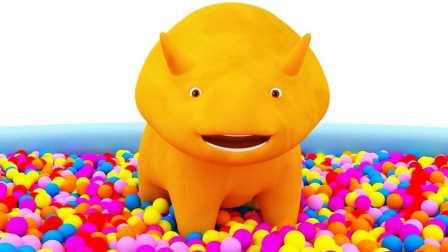 恐龙戴诺 第6集 和气球学习颜色