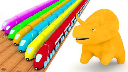 恐龙戴诺 第10集 和火车学习颜色