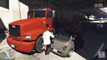 GTA5高速路汽车碰撞车祸测试