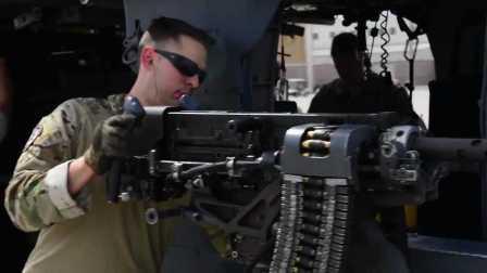 配置升级!看看黑鹰直升机的机载高速机枪