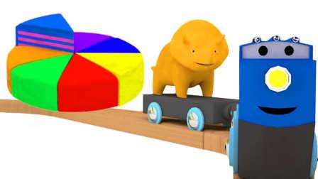 和恐龙戴诺学习 做一个彩虹蛋糕并学习颜色