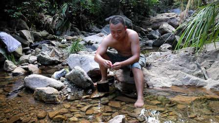 穷山沟捕虾记-野外烹煮美味的河虾大餐