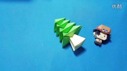 折纸王子教你折纸圣诞树 小松树 儿童折纸大全