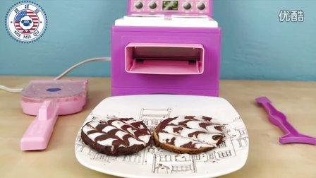 咩咩趣 花式漩涡巧克力和黄色蛋糕的做法教学 超级简单的烘焙课程