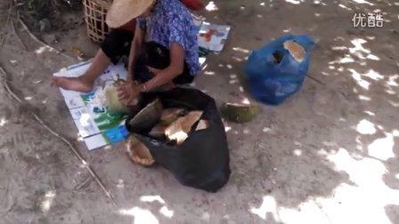 [拍客]实拍椰蓉的恶心制作过程