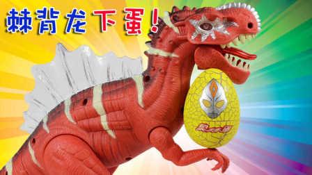 棘背龙与奥特曼蛋 恐龙下蛋 超大恐龙玩具 声光版棘背龙 侏罗纪世界 恐龙公园 鳕鱼乐园