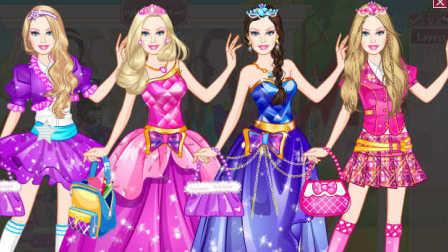 芭比公主动画片大全芭比的节日换装